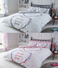 Scripted Luxury Flutter Duvet Cover Set + PillowCases Bed Sets / Fitted Sheets