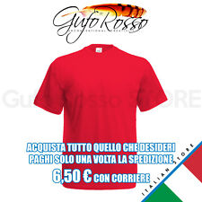 Fruit of the Loom 61-036-0 valueweight t - ROSSO Red - T-Shirt M/C.