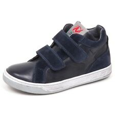 E5992 sneaker bimbo blu NATURINO scarpe strappi suede/leather shoe kid boy