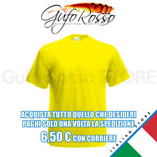 Fruit of the Loom 61-036-0 valueweight t - GIALLO  Yellow - T-Shirt M/C.