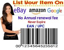 EAN & UPC Lifetime BARCODE Numbers for Amazon eBay Google iTunes Worldwide Sales