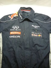 RED BULL RACING PEPE JEANS TEAM RACE SHIRT LONG SLEEVE MENS F1 FORMULA ONE
