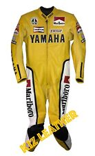 MARLBORO YELLOW YAMAHA MOTO GP RACING SUIT IN COWHIDE LEATHER WITH CE ARMOUR