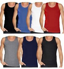 Men Gym Vests Sleeveless T-Shirt Tank Top Fitness Sport Vests Small To 2XL