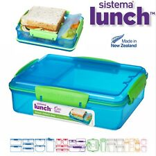 Sistema Lunchbox Snack Attack Duo, blau,grün,pink - 975ml
