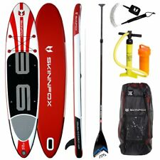 Skinfox WHALE DOUBLE-Layer SUP-Board CARBON-SET weiß-rot Paddelboard 365x80x15cm