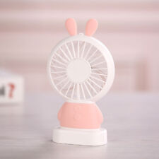 Portable Handheld Cooling Fan LED Colorful Rabbit Shaped USB Rechargeable Cool
