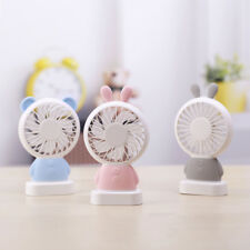 Portable Handheld Cooling Fan LED Rabbit Bear Shaped USB Rechargeable Gift Cool