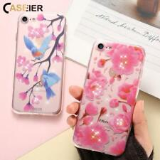 CASEIER Flower Patterned Case For iPhone 6s 7 Plus Cover Capa Soft Silicone Flor