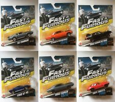 Various Fast and Furious Diecast Hotwheels Mattel Cars. New, Rare & Collectable