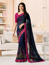 Littledesire Georgette Printed Saree with Bangalori Blouse