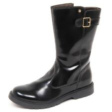 E2738 stivale bimba black NATURINO scarpe shiny leather shoe boot kid girl