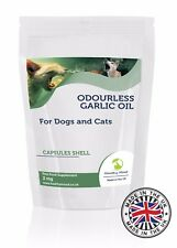 inodore Ail Huile 2MG chiens chats animaux de compagnie supplément 30/60/90/