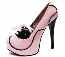 Pleaser Bordello Teeze Platform with Bow Size 5