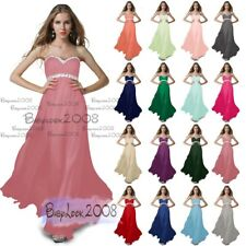 Beaded Formal Evening Dress Party Ball Gown Prom Bridesmaid Long Dresses 8-26