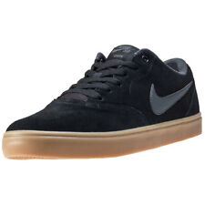 Mens Nike SB Check Solar Suede Black Anthracite Branded Footwear Shoes Trainers