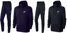 Men Nike Tribute Polyester Zip Hoddy Tracksuit Navy/Grey & Black/White All Sizes