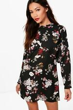 Boohoo Petite Jenna Floral Double Layer Shift Dress para Mujer