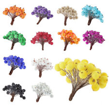 Pack of 200 sticks Christmas Frosted Fruit Berry Artificial Flower Decor -  M4V8