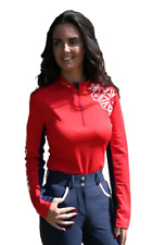 Chillout Horsewear Womens UV Base Layer - Red