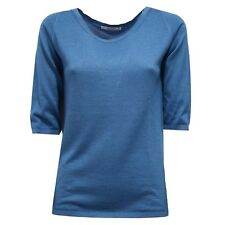 7357V maglione donna KANGRA light blue cashmere/silk sweater woman