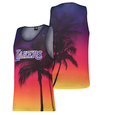 New Era Nba Los Angeles Lakers Uomo COSTIERA CALORE Canottiera ILLUSTRATO