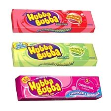 Hubba Bubba Chewing Gum Packs 3 Flavours Qty 5 OR 10 Bubble Gum Sweets