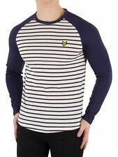 Lyle & Scott Men's Longsleeved Baseball Breton T-Shirt, White