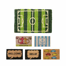Mini Paillasson fibres de coco 40x25 tapis de sol welcome auto ancre hello chat