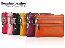 Mini Women Ladies Genuine Leather Small Coin Card Key Ring Wallet Pouch Purse