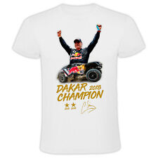 New! Carlos Sainz Dakar Rally 2018 Champion T-Shirt in the Peugeot 3008 DKR MAXI