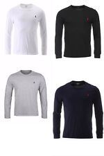 Genuine Ralph Lauren Polo Crew Neck Long Sleeve Custom Fit T Shirt Top Pony New