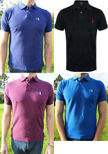 Ralph Lauren Custom Fit Mens Short Sleeve Polo Shirt Top Genuine New S M L XL