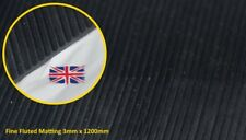 RIBBED RUBBER MATTING 1.2M WIDE 3MM THICK ANTI SLIP - PREMIUM QUALITY RUBBER MAT