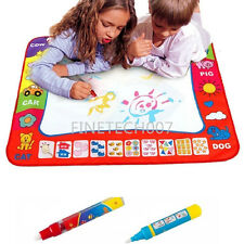 80X60cm Water Drawing Toy Painting Writing Mat Board 2 Magic Pens Doodle Mat  #F