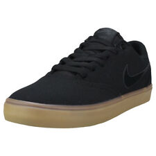 Mens Nike SB Check Solar Canvas Black Gum Branded Footwear Shoes Trainers