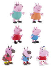 Peppa Pig Toy Figures Cake Decorating Toppers George Mummy Daddy Dancer Muddy