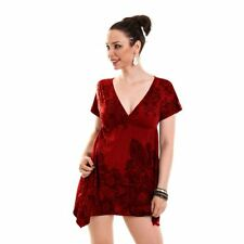 Innocent Lifestyle Smock Dress Ladies Wine Red Goth Emo Punk