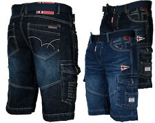 GEOGRAPHICAL NORWAY PANTALON HOMME Jeans Shorts cargo bermuda court de l'été