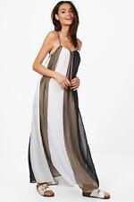Boohoo Holly Maxi Abito A Righe Multiple per Donna