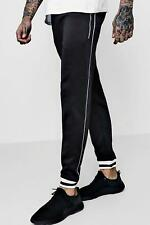 Boohoo Skinny Fit Tricot Joggers With Piping per Uomo