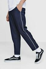 Boohoo Tailored Trousers With Piping per Uomo