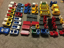 Lego Duplo Semi Truck Flatbed Trailer Vehicle trash car vintage police pickup