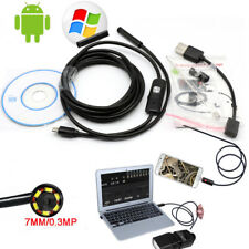 Waterproof 7mm 6LED USB Endoscope Borescope Tube Inspection Camera For Android