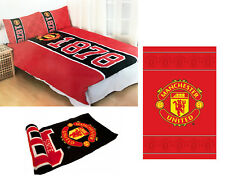 MANCHESTER UNITED FOOTBALL Man Utd FC Double couette literie couverture tapis 3