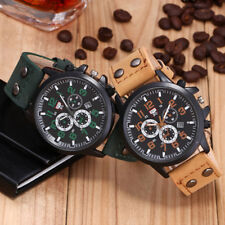 Analog Military Leather Waterproof  Date Quartz Watch Men's Quartz Wrist Watches