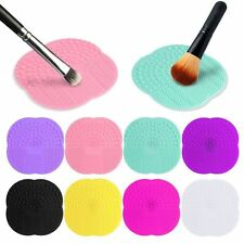 Silicone Makeup Brush Cleaner Cosmetic Scrubber Board Mat Pad Hand Tool
