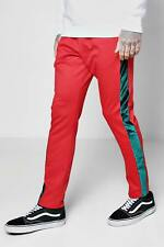 Boohoo Skinny Fit Joggers With Velour Panel per Uomo