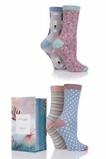 Ladies 4 Pair Thought Summer Vibe Bamboo and Organic Cotton Socks In Gift Box