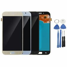 LCD DIGITIZER TOUCH SCREEN PER SAMSUNG GALAXY A7 A720 NERA / Bianco/oro